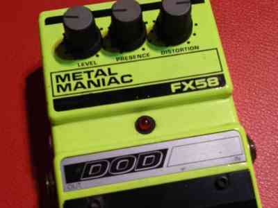pedal dod. fx 58 metal maniac made in usa en Lanus Este, vista previa